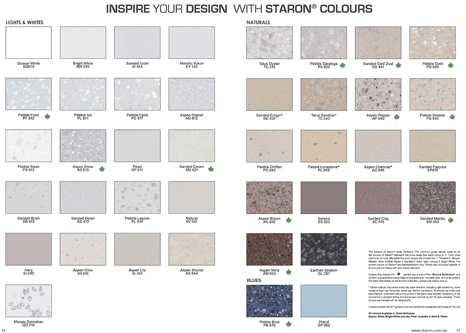 Staron Solid Surfaces « Solid Surface