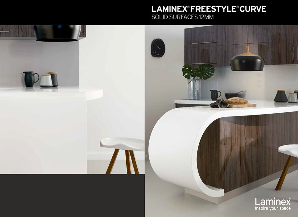 Laminex Freestyle Curve Solid Surfaces 12mm
