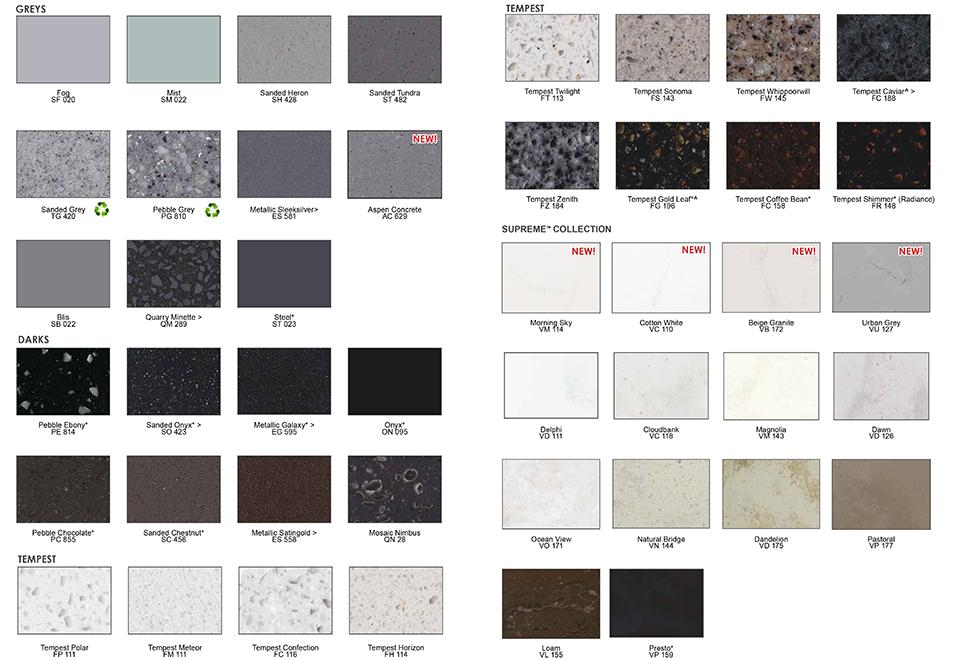 Free samsung staron surface samples.